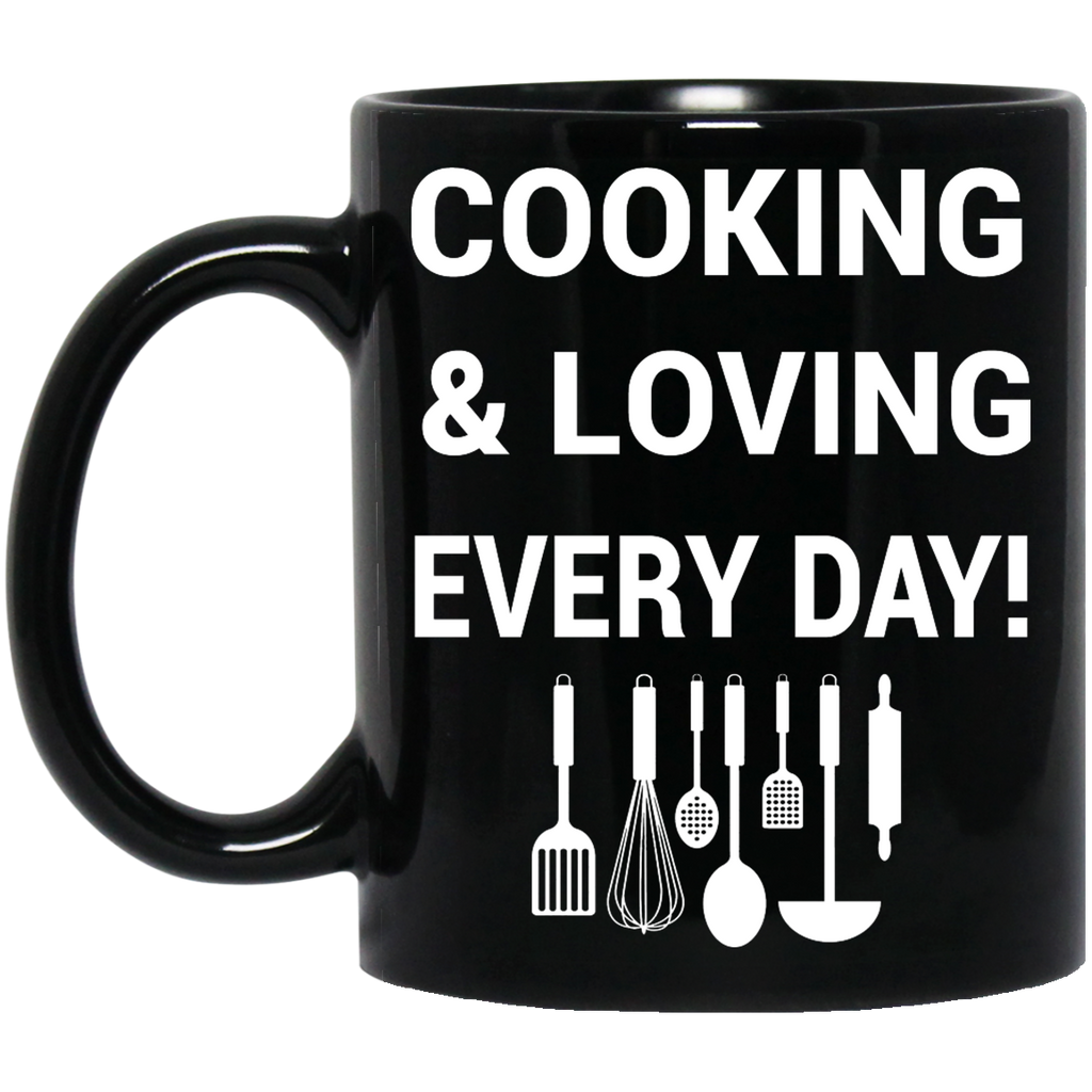 Cooking and loving every day mug