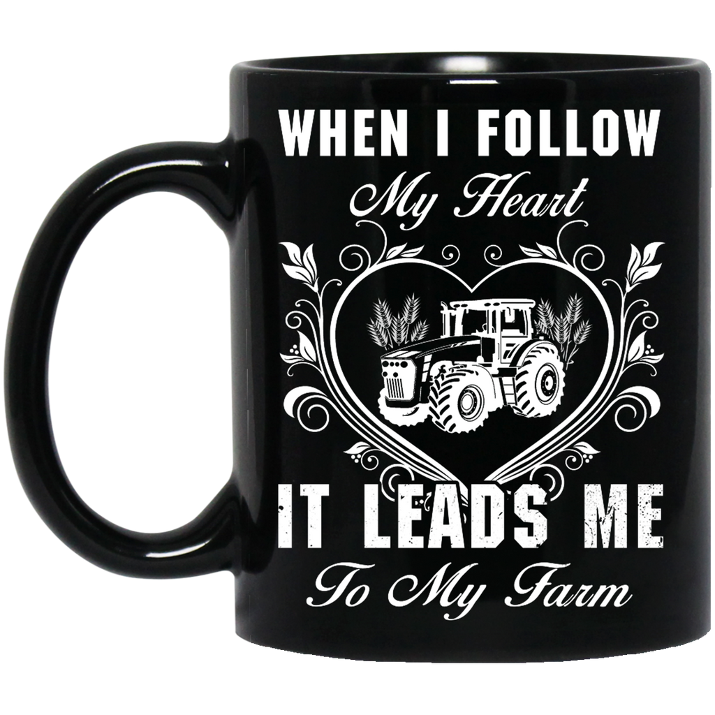 When I follow my heart Farmer mug