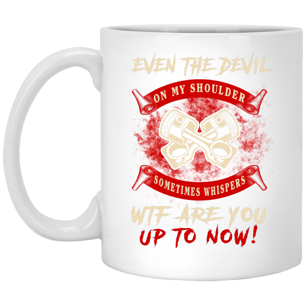 Even the devil Mechanic mug