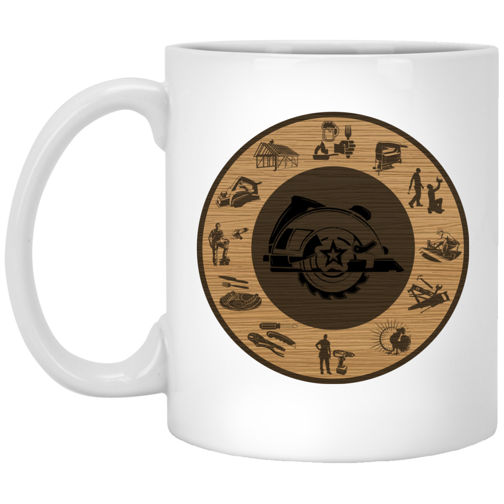 Clock Carpenter mug