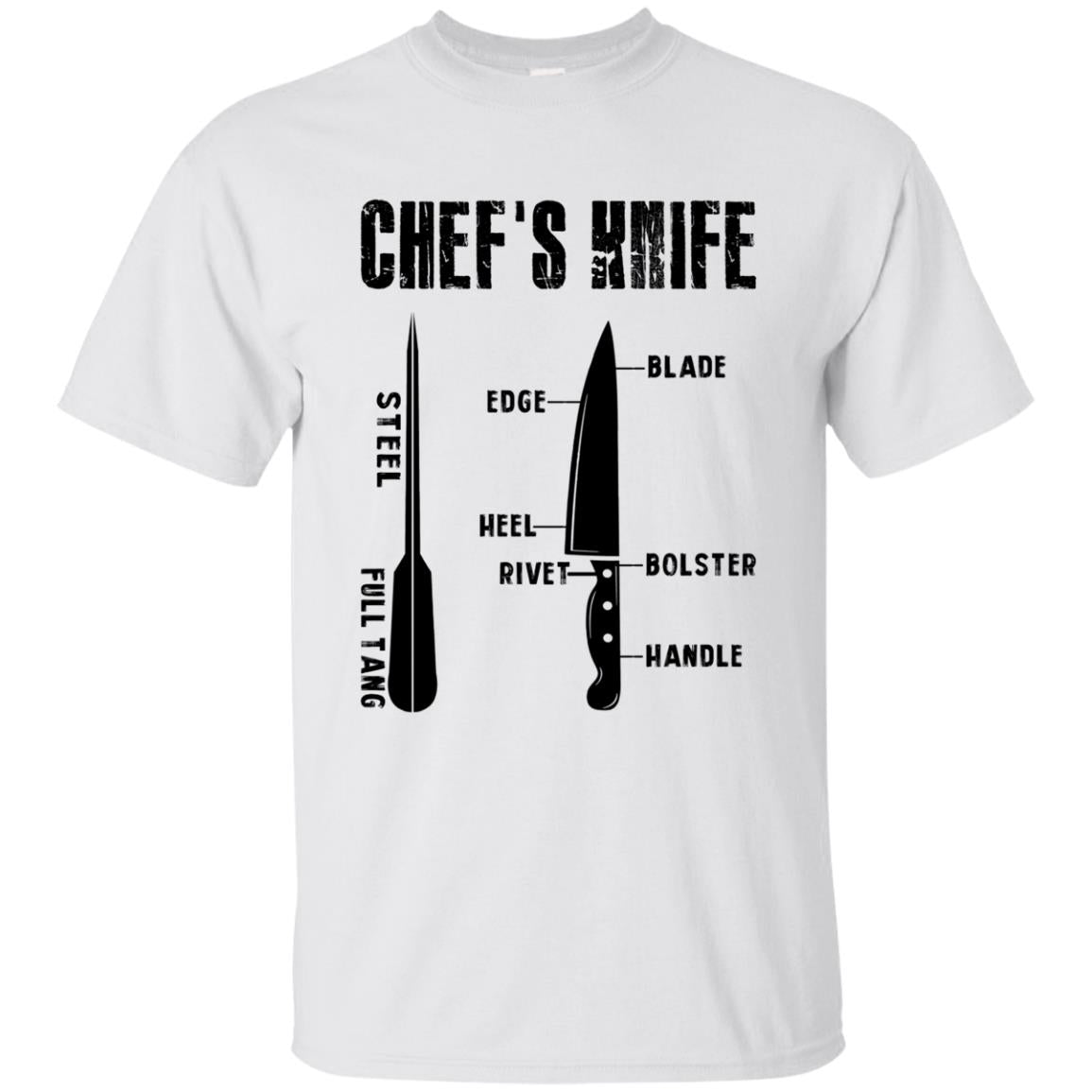 Chef s Knife Steel Full Tang T Shirts