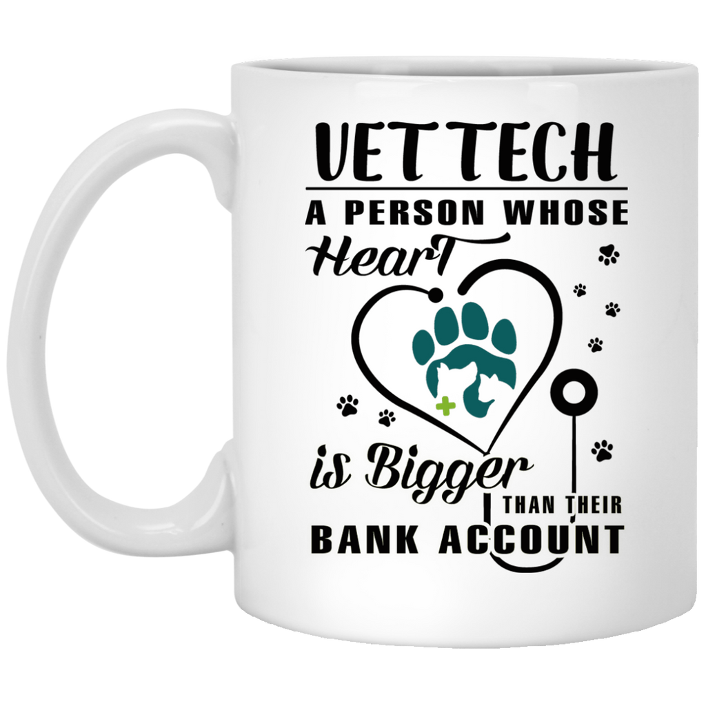 Vet Tech a person whose heart is bigger mug