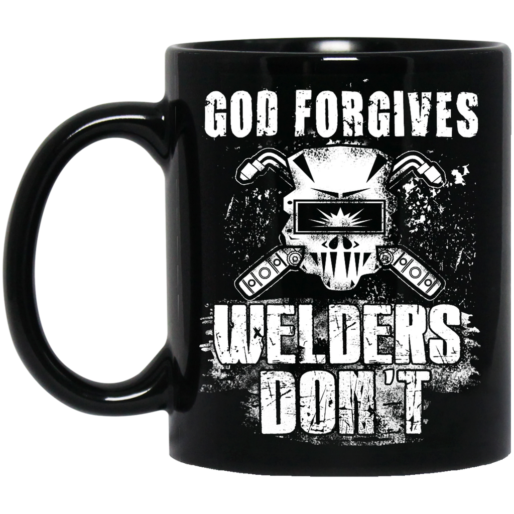 God forgives Welders mug