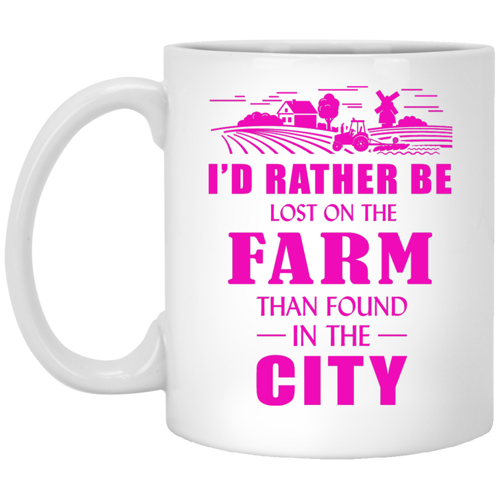 I'd rather be lost on the Farm mug