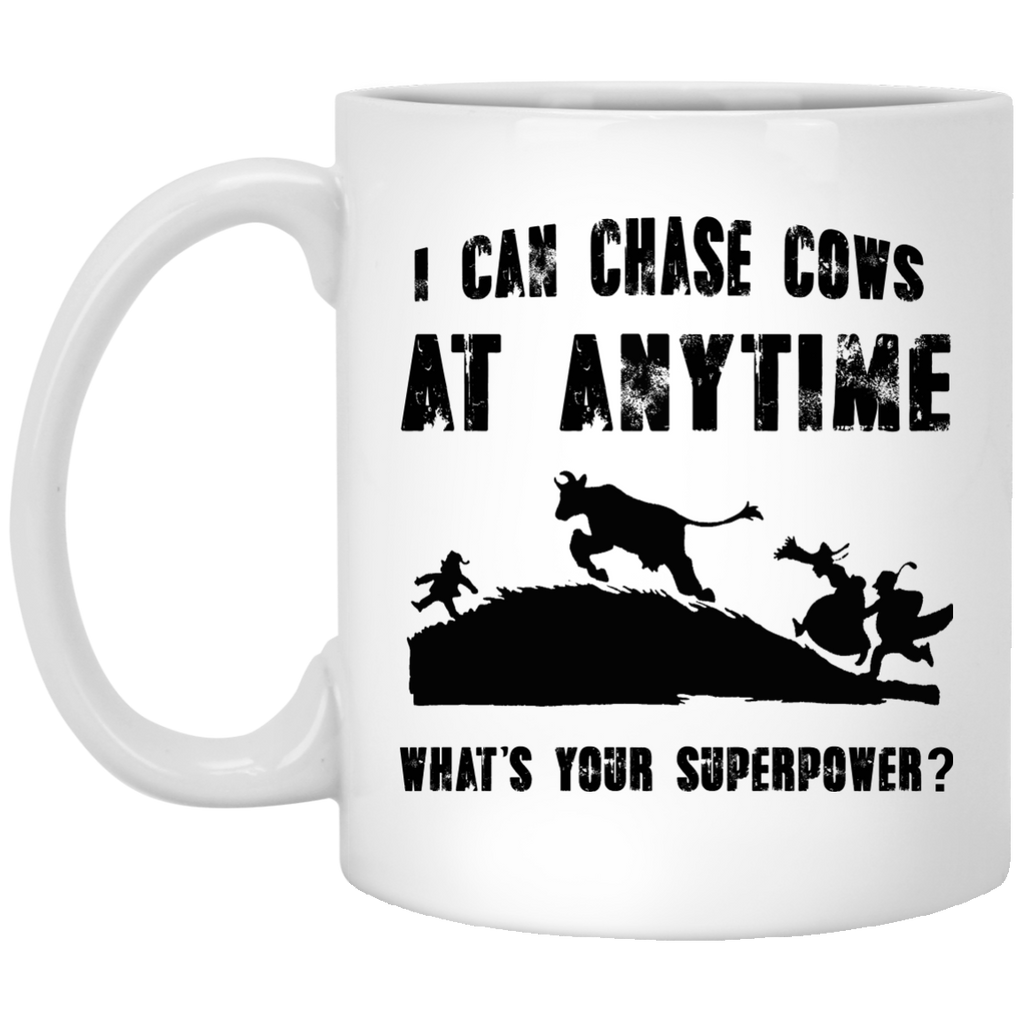 I can chase cows at anytime Farm mug