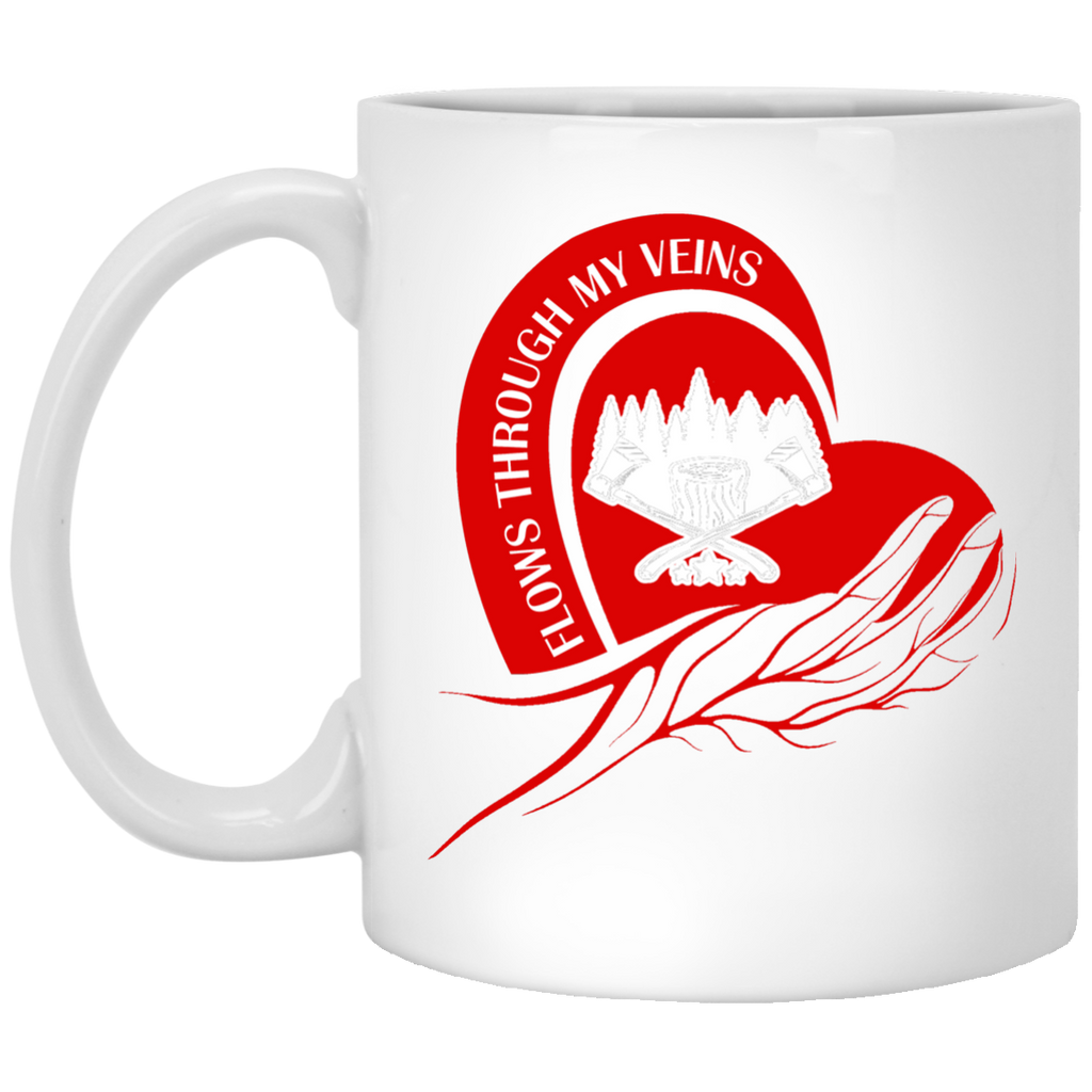 Flows through my veins mug