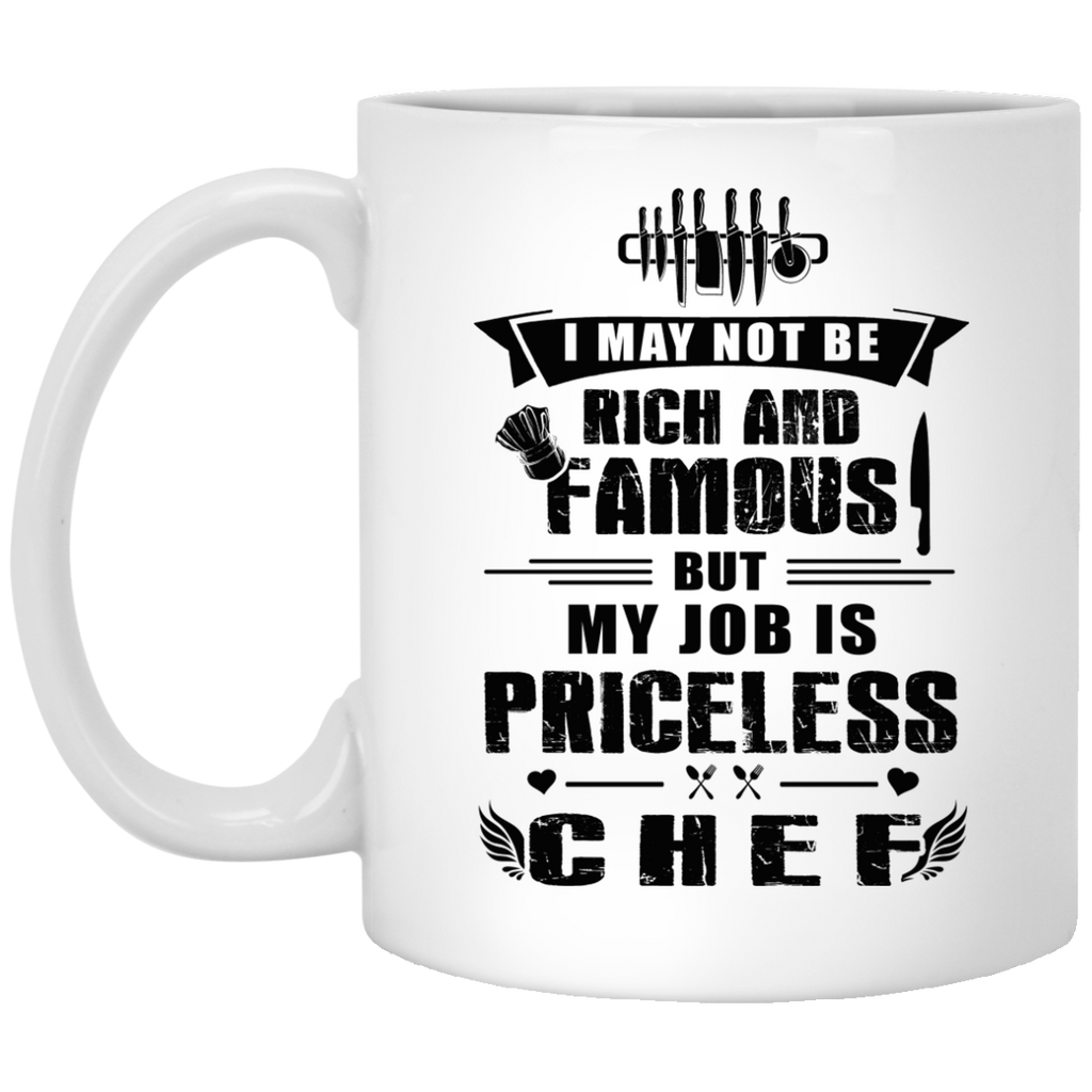 I may not be rich Chef mug