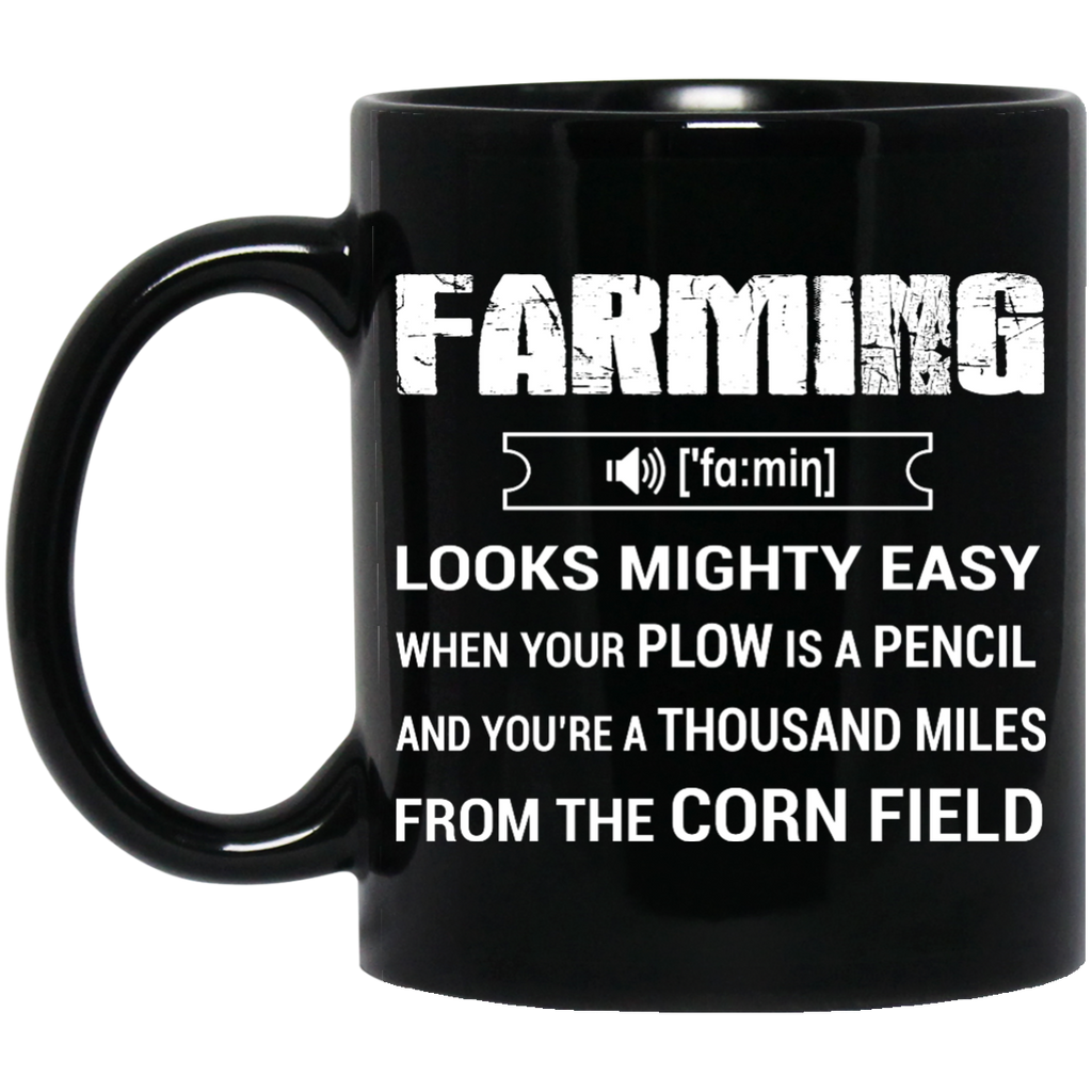 Farming looks mighty easy mug