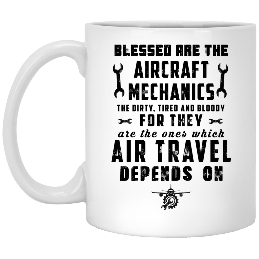Blessed are the Aircraft mechanic mug