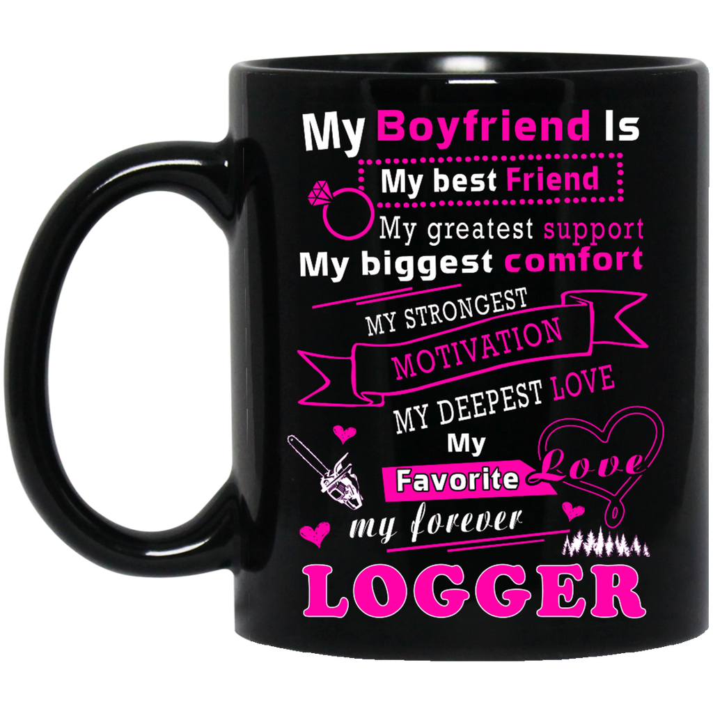 My boyfriend is my best friend Logger mug