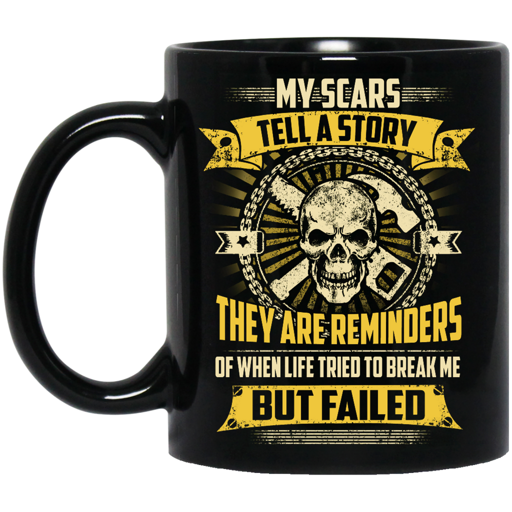 My scars tell a story Carpenter mug