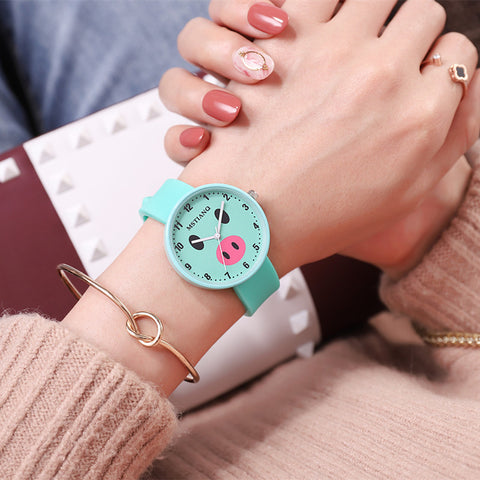 Lovely Piggy Women Wristwatches Five color available