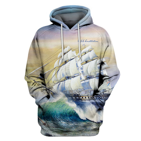 Image of USS Constitution Ship Hoodie