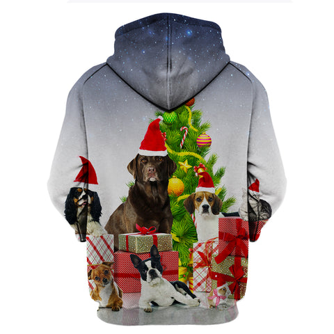 Image of Vet Tech Xmas With Animals Hoodie
