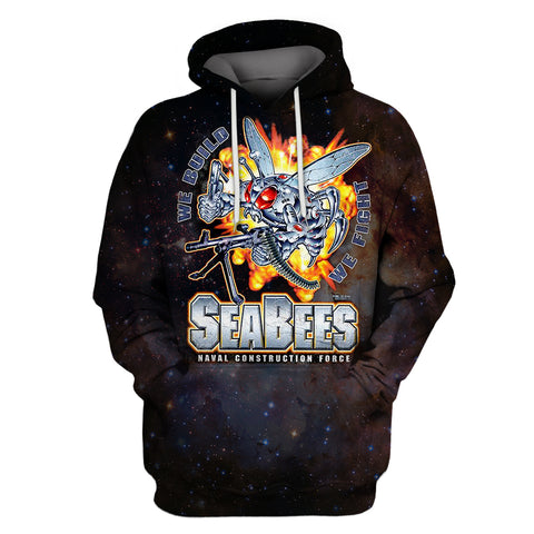 Image of SEABEES We Build We Fight Hoodie
