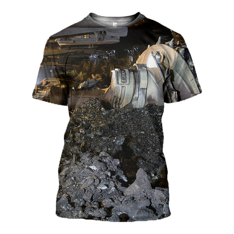 Coal Black Miner 3d T-Shirt