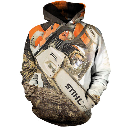 Image of Cool Mens 3D Hoodies Logger Tools