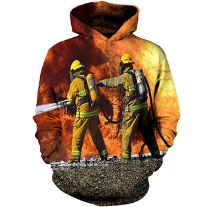 96ca94c957b8 Fire Fighter Two Man Rescue 3D Hoodies ...