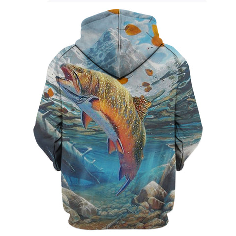 Image of WTF Where's The Fish 3D Hoodies
