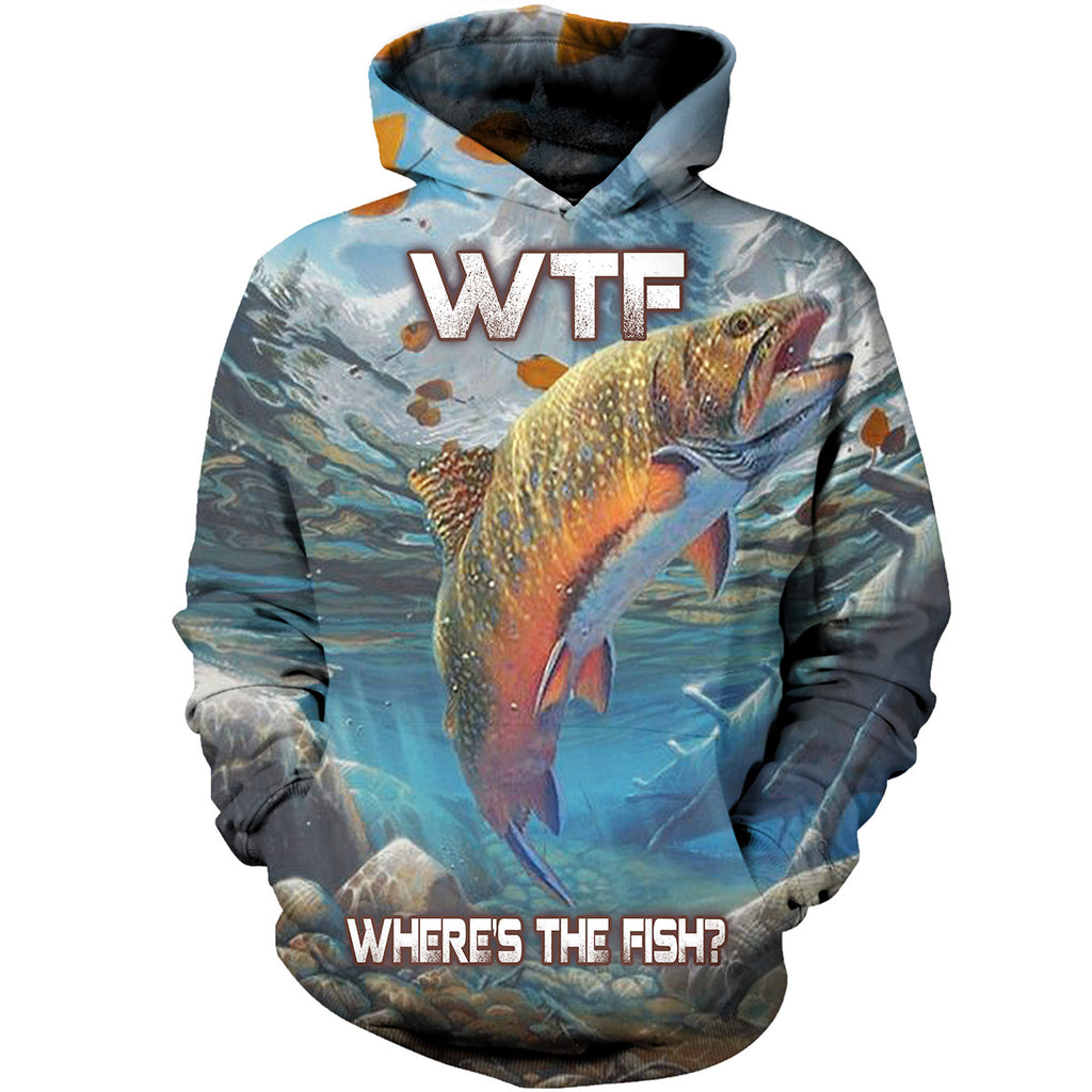 WTF Where's The Fish 3D Hoodies