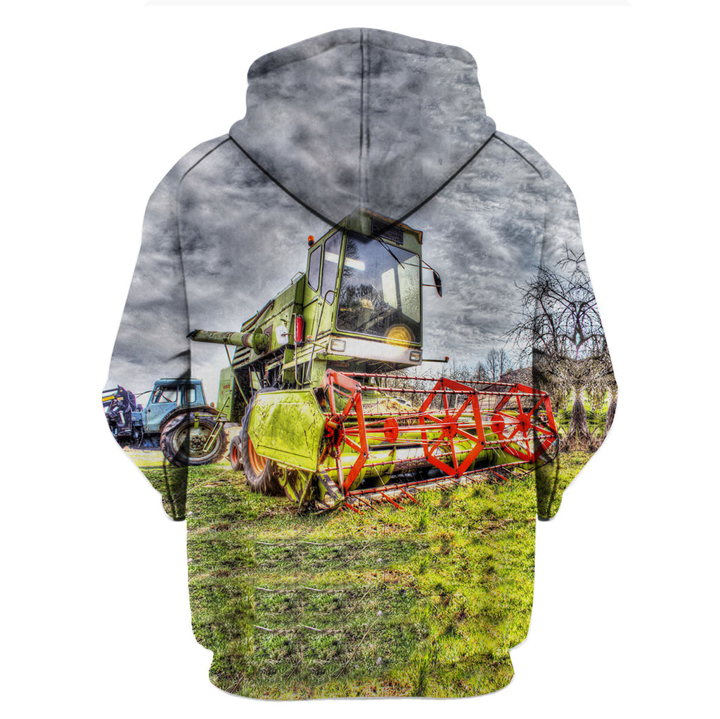 Farmer Lawn Mower 3D Hoodies