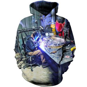 Welder Light The King Of Jobs 3D Hoodies