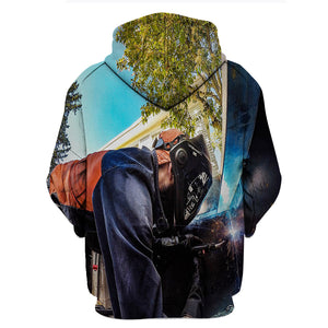 Welder Man The Black Princess 3D Hoodies