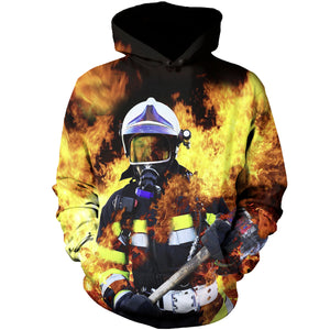 dcbf994e758f Fighter King Of Fire 3D Hoodies ...