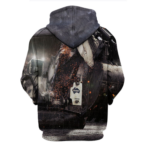 Heavy Equipment Operator Thunder King Excavator 3D Hoodies