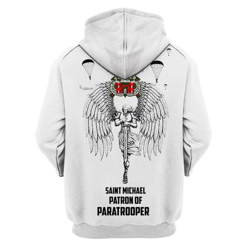 Saint Michael Patron Of Paratrooper 3D Hoodies