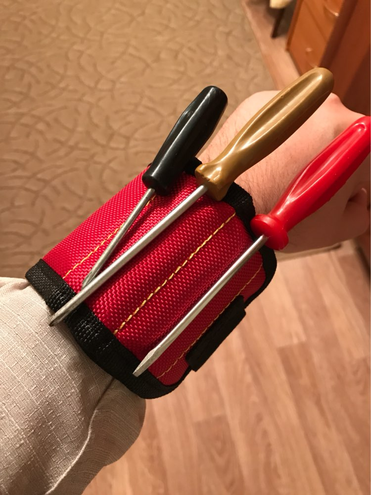 Tool Sets Considerate Strong Magnet Wristband Tool Adjustable Tool Wrist Bands For Screws Nails Nuts Bolts Hand Free Drill Bit Holder