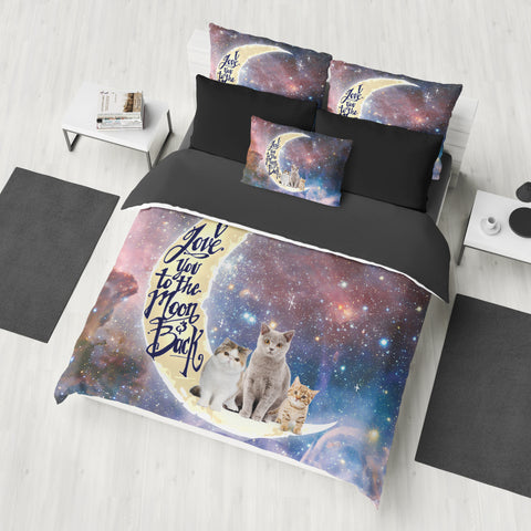 I Love You To The Moon & Back Loves The Cats Bedding Set