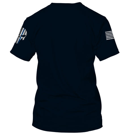 Image of Police Officer Flag USA 3D T-shirt