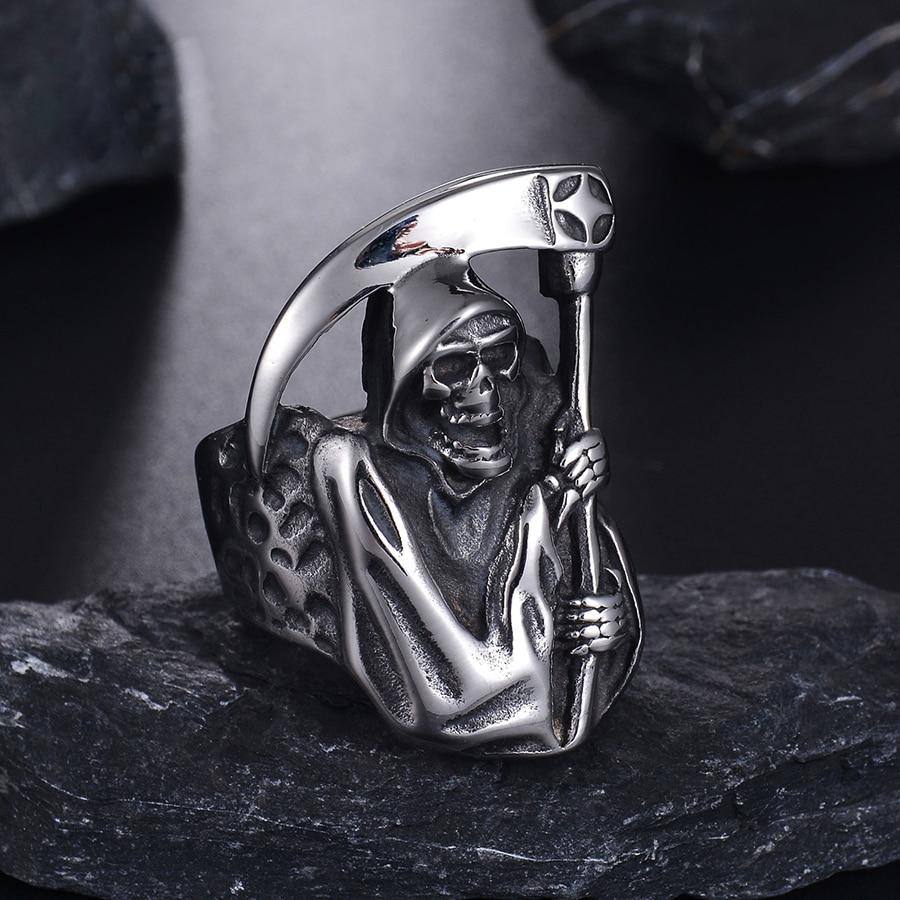 Vintage Skull Ring Stainless Steel - Sale Off 50%