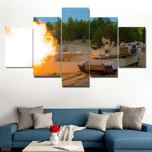 [Ship To USA Only] Tanker Fire Framed Canvas