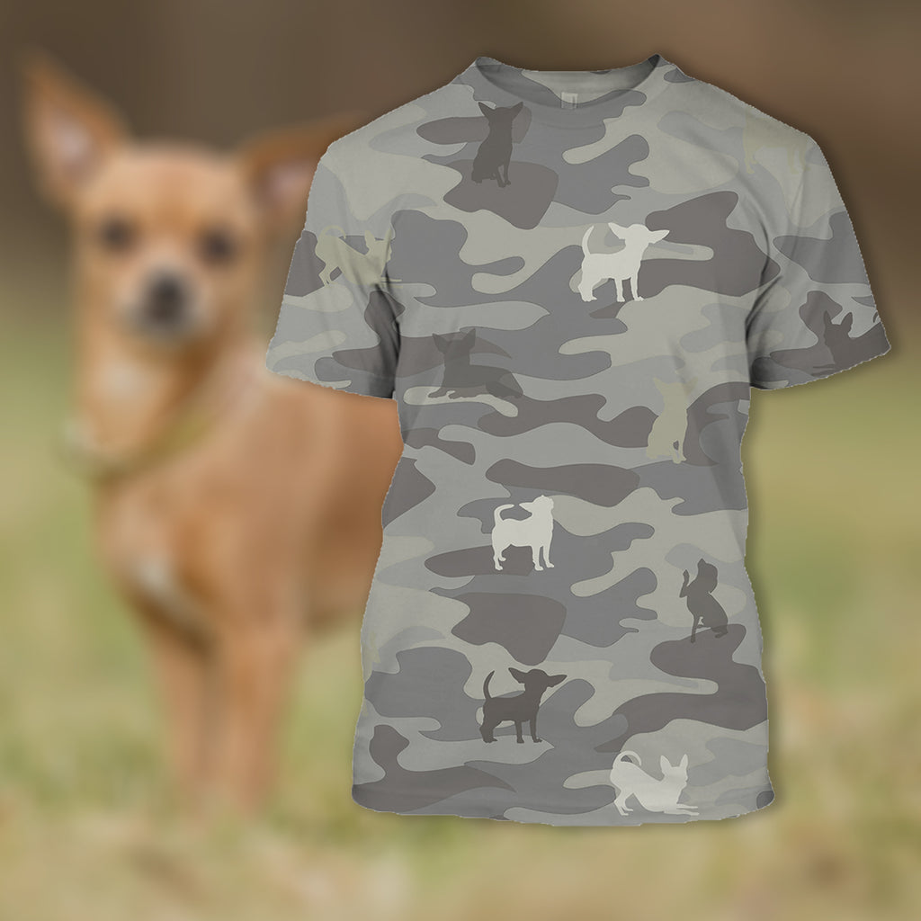 Tee Shirt In Prink Protected by Chihuahua Shirt Clothing