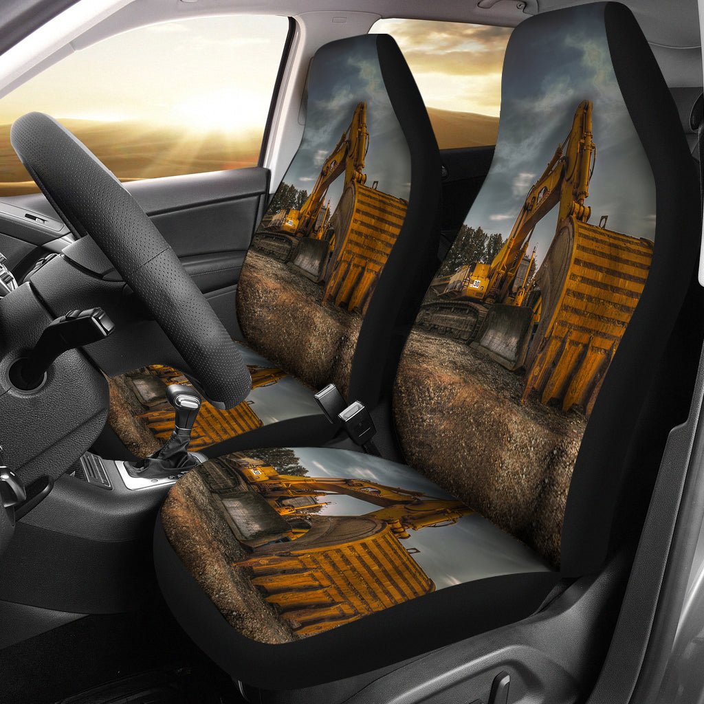 Heavy CAT Excavator Classic Car Seat Covers Tap To Expand