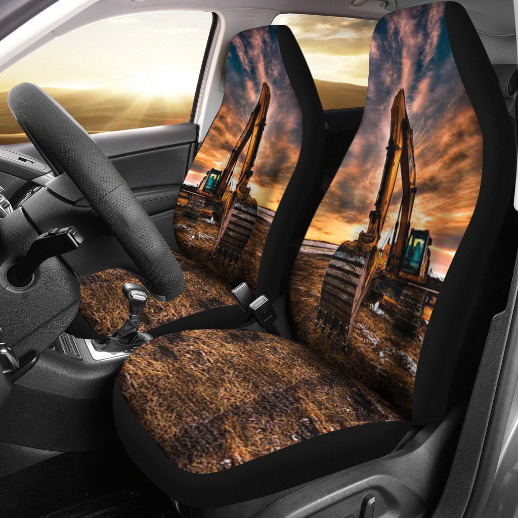 Best Man Heavy CAT Excavator Car Seat Covers