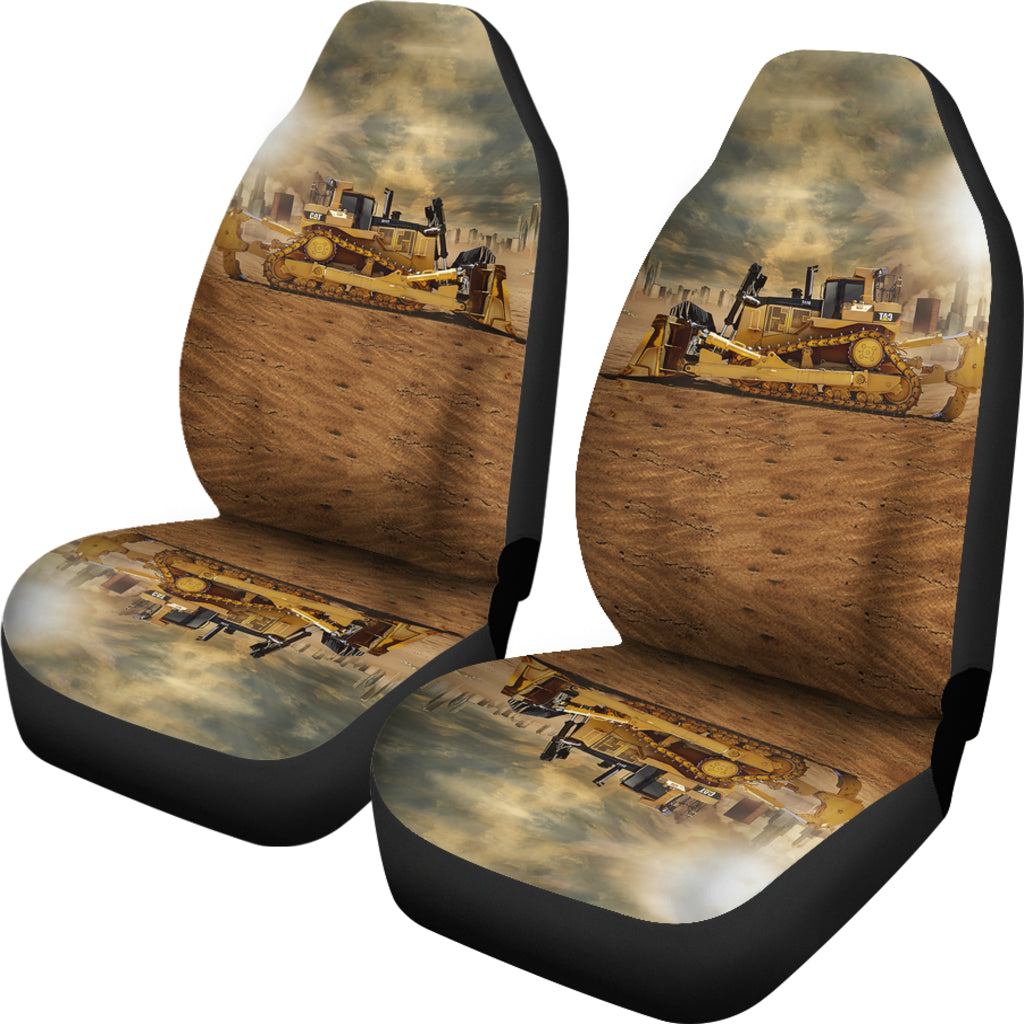 Bulldozer On The Sunshine Car Seat Covers