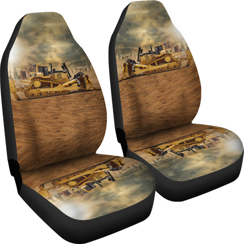 Image of Bulldozer On The Sunshine Car Seat Covers