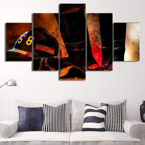 Fire Fighter 58 Framed Canvas
