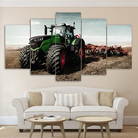 Image of [Ship To USA Only] Farmer Tractor John Deere Framed Canvas