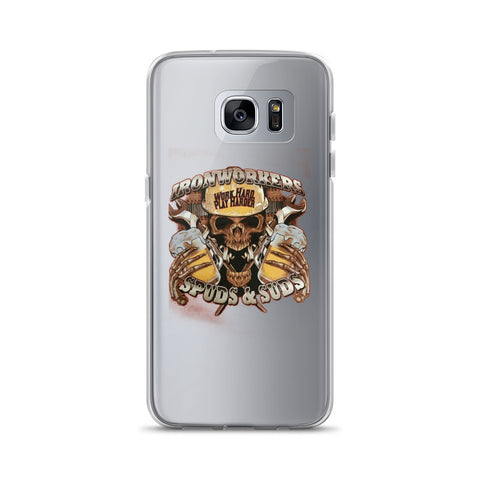 Image of Ironworkers Work Hard Spuds & Suds Samsung Case