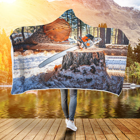 Image of Logger Big Wood 3D Hooded Blanket