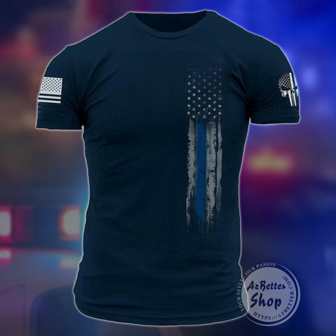 Police Officer Flag USA 3D T-shirt