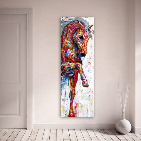 Image of Amazing Horse Abstract Canvas - Home Decor - Best Gifts For Farmers - Horse Canvas