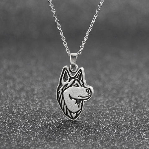 Vintage Dog Breeds Pendant Necklace Long Chain