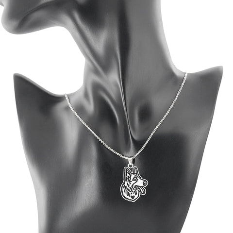 Image of Vintage Dog Breeds Pendant Necklace Long Chain