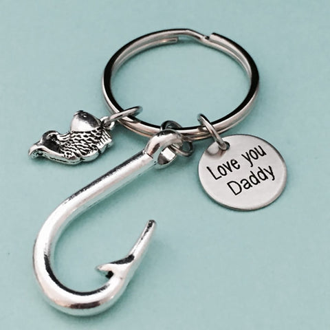 Awesome Gift For Dad - Keychain - Gifts For Dad Who Likes Fishing - Gifts For Dad - Keyring
