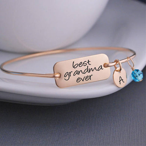 Image of Best Gift For Grandma - Jewelry - Grandmother Bracelet - Best Grandma Ever Bracelet